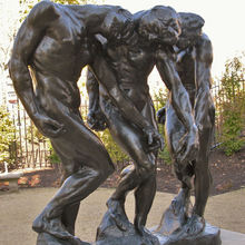 metal casting famous sculpture life size Rodin The shades statue