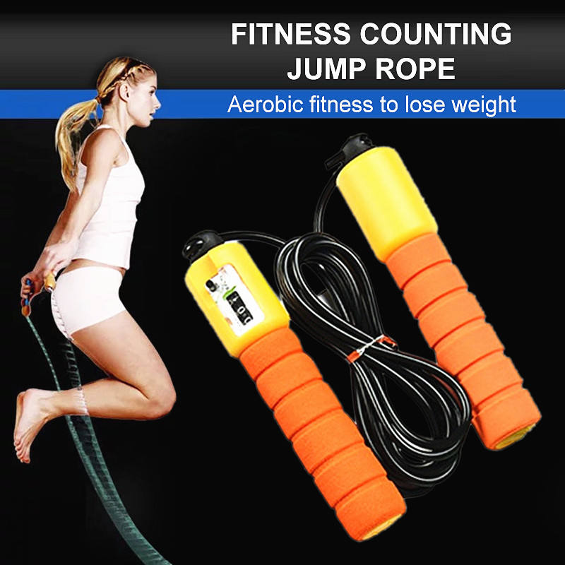 Buy New Design Non Slip Adjustable Custom Private Label Battle Exercise Digital Heavy Calorie Counter Jumping Rope