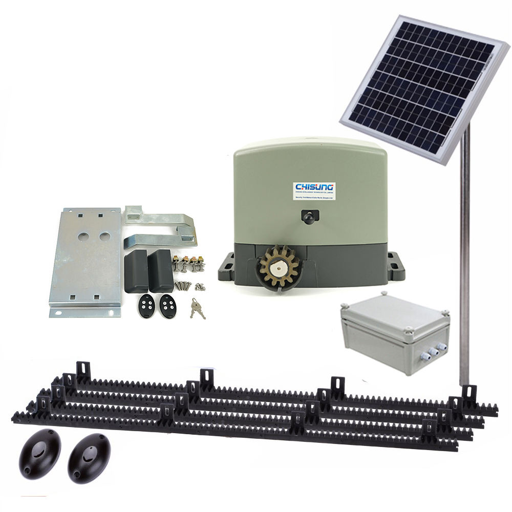 New Product ideas 2020 Quality Solar Powered 80W Dc 500kg Motor Automatic Sliding Gate Opener Kit