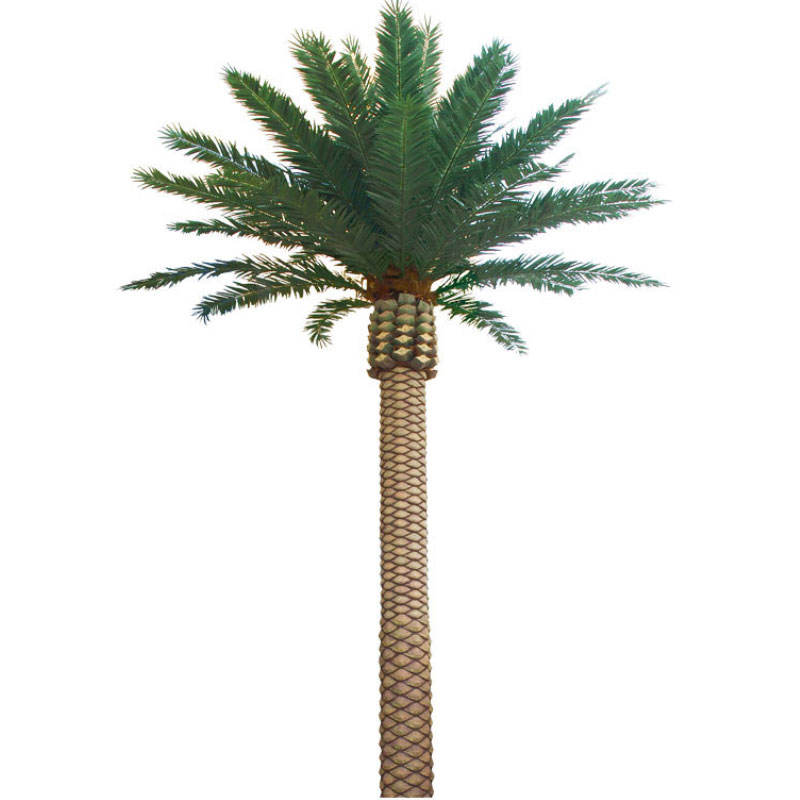 Outdoor steel trunk artificial Preserved Palm trees