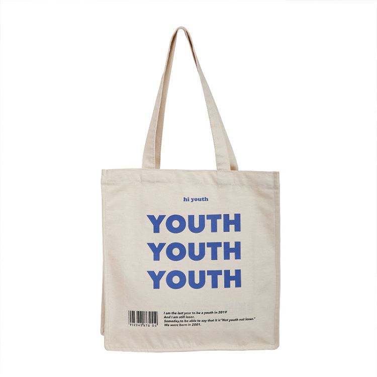Custom logo printed cheap wholesale manufacturer 100% cotton cloth canvas tote carry shopping bag