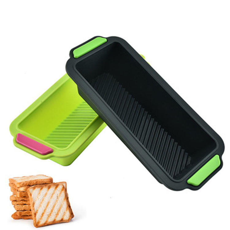 BPA free rectangle pastry toast loaf silicon cake mold heat resistant non stick silicone bread baking mold