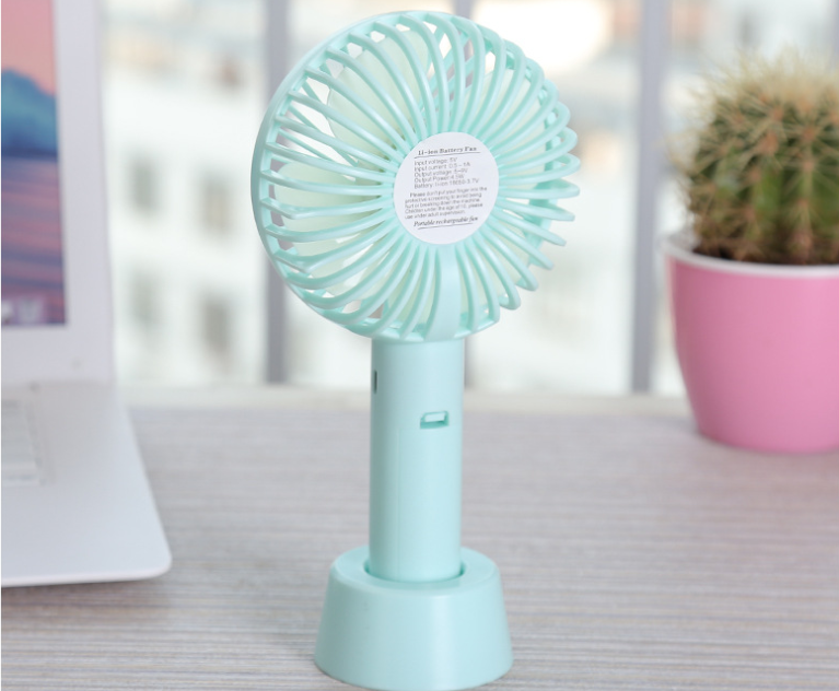 Promotional gifts mini portable hanging air cooling USB hand held table fan with strong wind