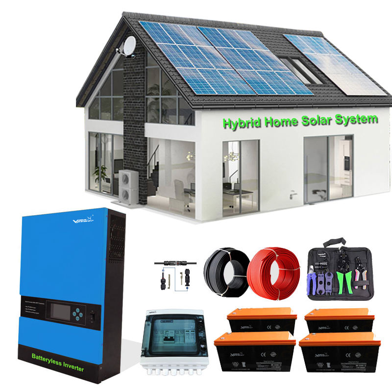 Vmaxpower 5kw Off Grid Hybrid Home Solar Power Systems 10KW Home Complete Solar Energy Systems Solar Panel Power System For Home