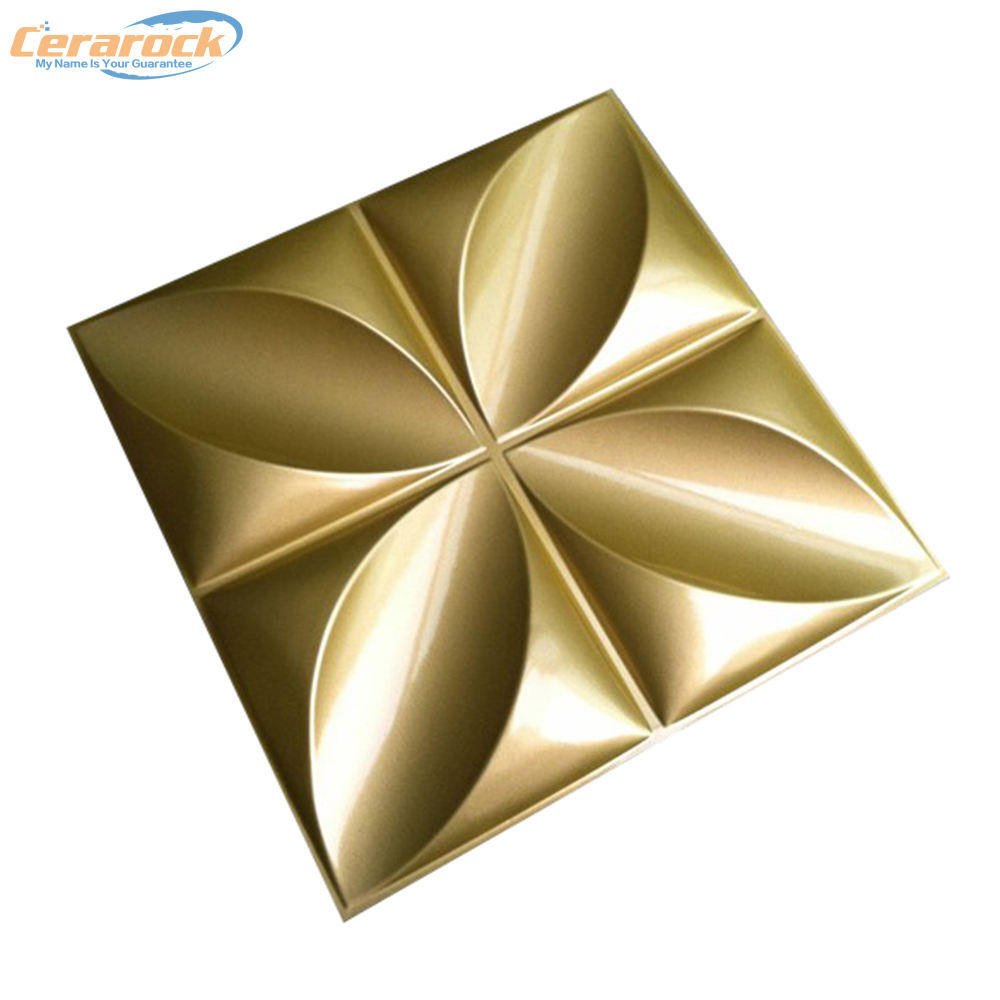 Cerarock golden decorative 3d wall panels for home decor