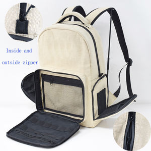 Hemp Backpack Smell Proof Backpack with Activated Carbon Lining