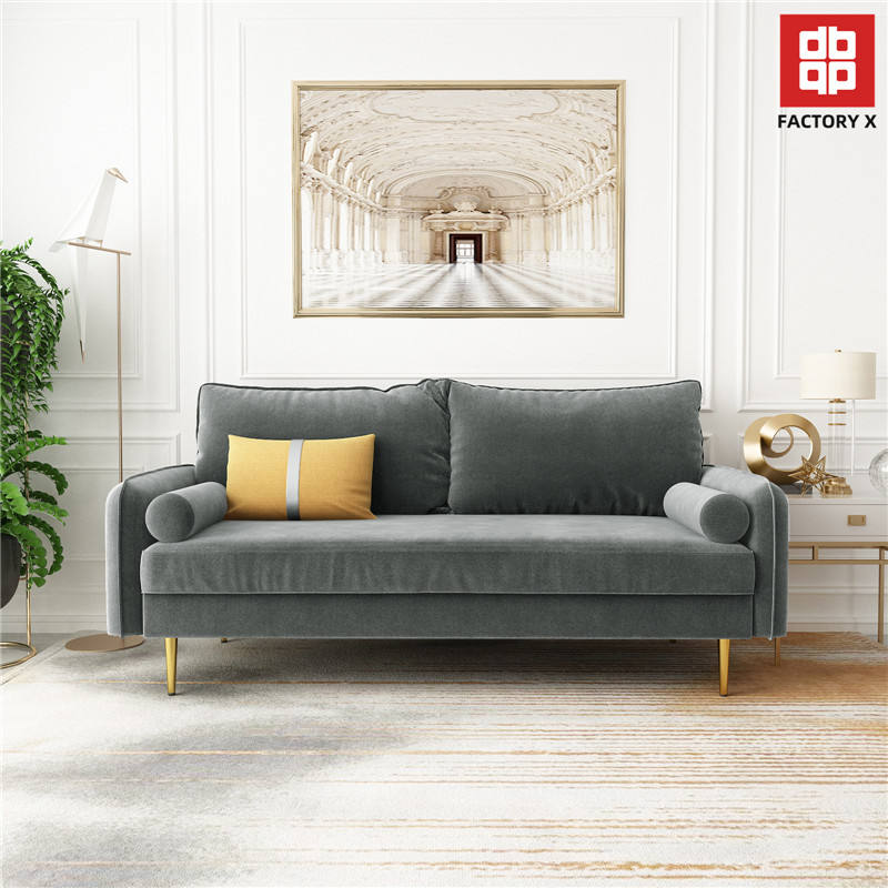FACTORYX P11 in stock deliver fast home furniture new 3 seater sofa CANTON fair China 127 fabric living room sofa online