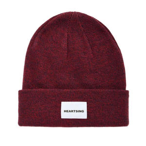 Wholesale Knit Beanie Custom Label Promotional Low Price Plain Knitted Embroidery Logo Winter Cap
