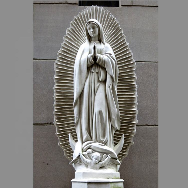 Resin Life Size Virgin Mary Sculpture Our Lady Of Guadalupe Fiberglass Statue