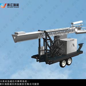 High Quality of COW Telescopic Antenna Communication Tower(Cell On Wheels) by Original designer