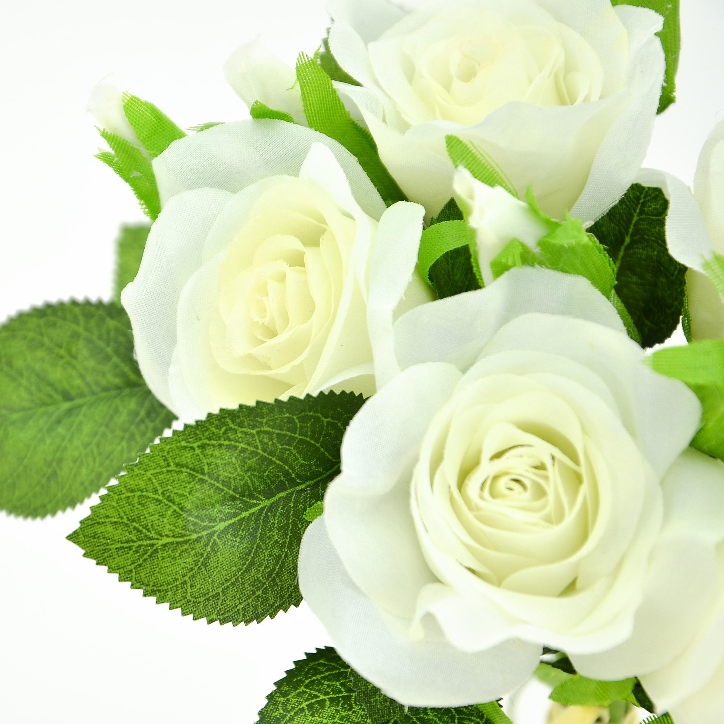 2021 Hot Selling Mini White Bouquet Artificial Flower Rose.