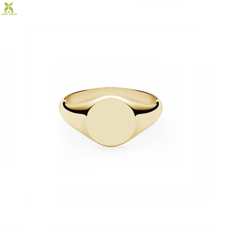 Hot Sale Europe and America women rings jewellery 14k gold signet ring