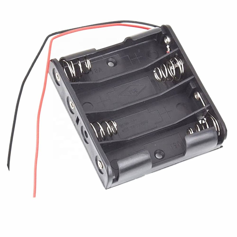 4 * AA Battery Diy Kit Electronic Plastic Battery Case Storage Shell Box Holder with Wire Leads for 4 X AA 6.0V 4AA