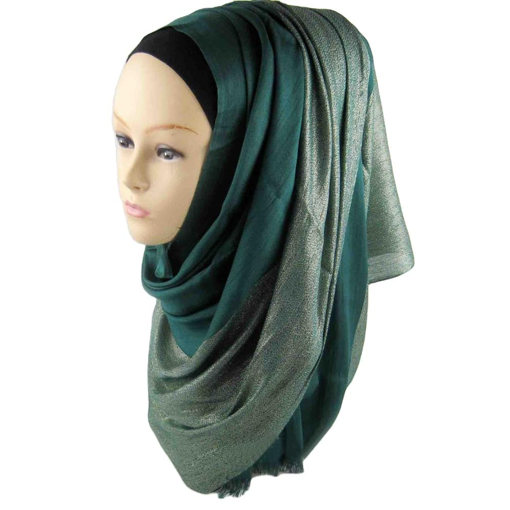 Low MOQ wholesale solid color african muslim women scarf