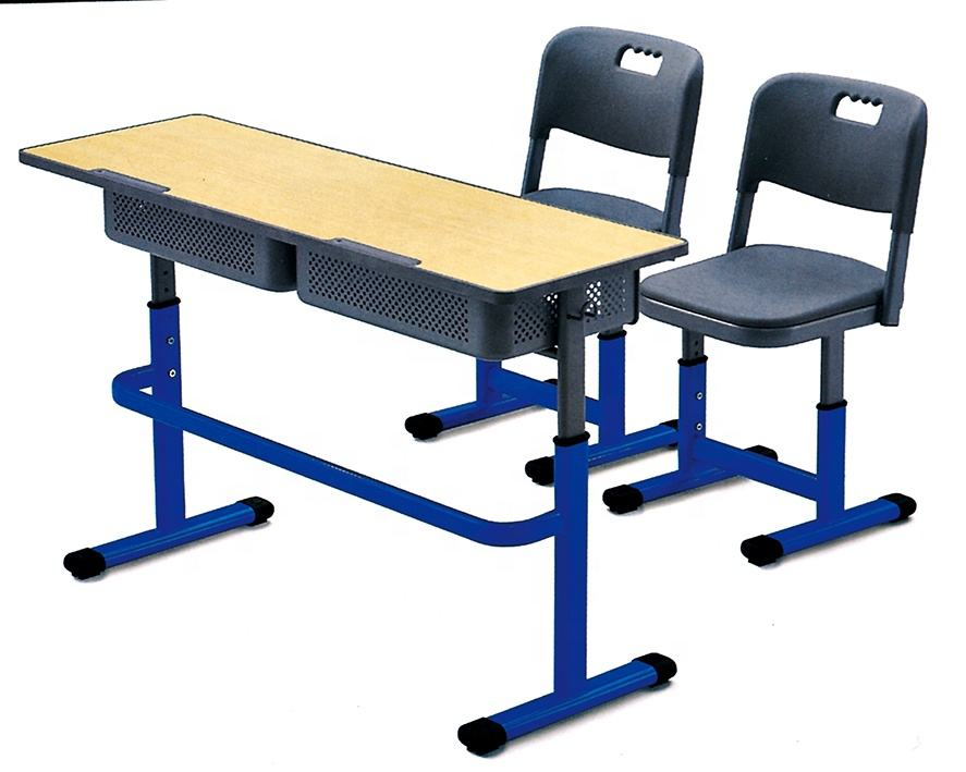 Modern school furniture study table and chair for students reading desk and chair college classroom furniture school sets