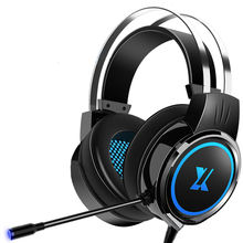 Electric competition headset for head game pubg special headset Internet bar cable USB interface with microphone headset