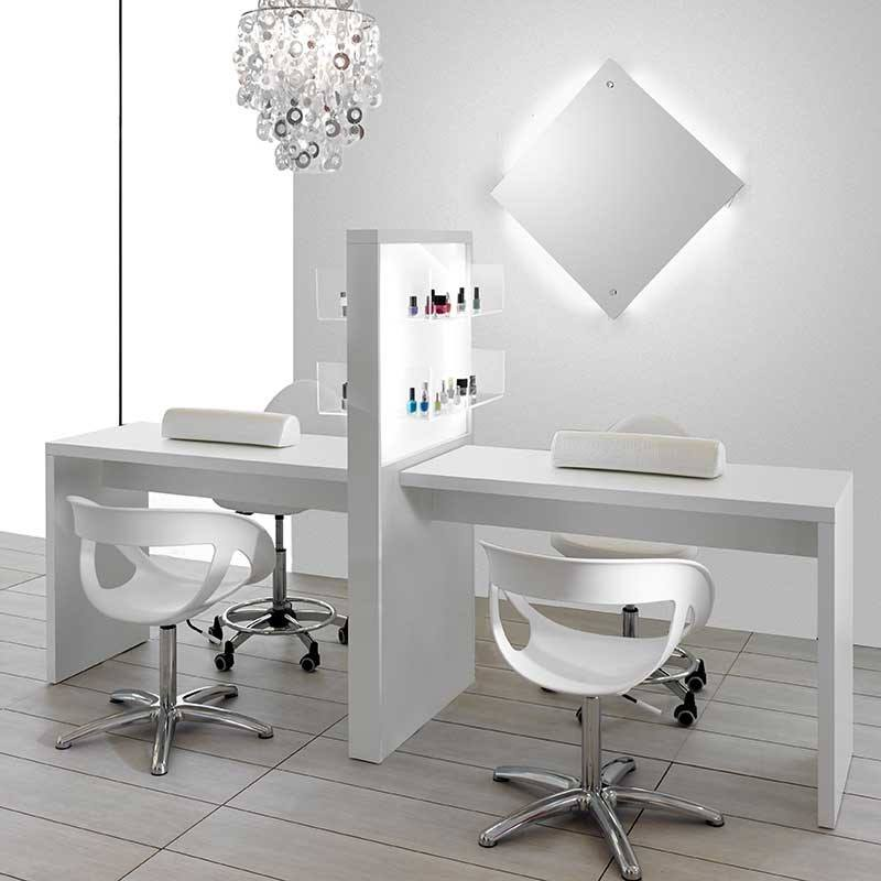 triple manicure table nail bar used nail salon furniture