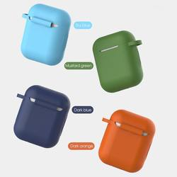 BOORUI Protective for AirPod Case  luxury Silicone cover for airpods 1/2  bluetooth earphones