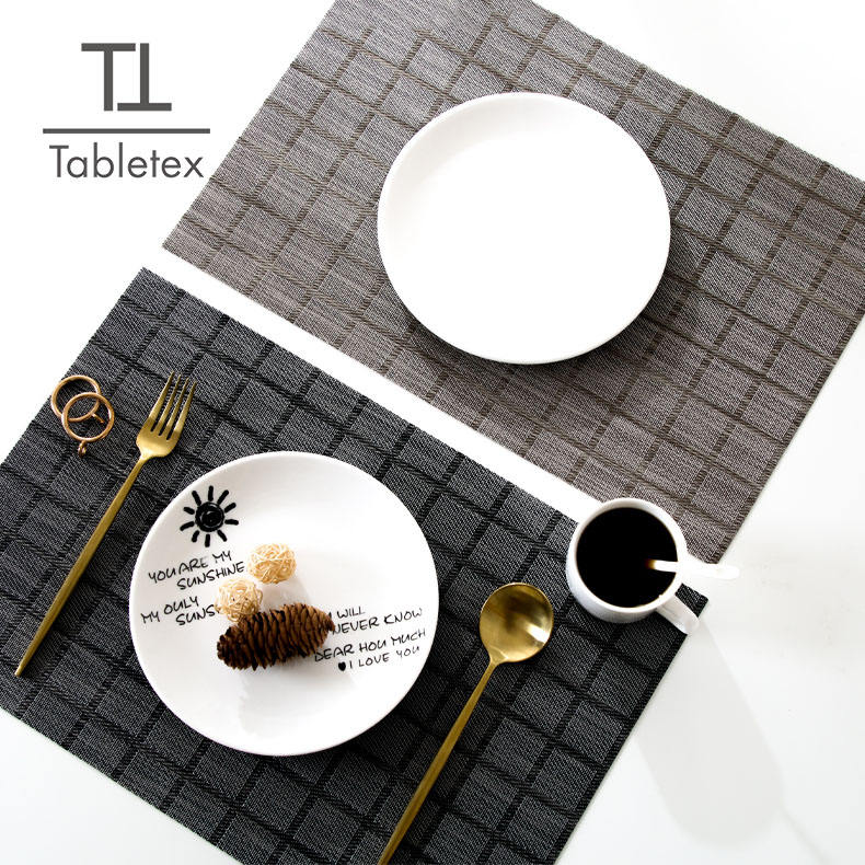 new design Amazon best seller check design durable use PVC waterproof placemat