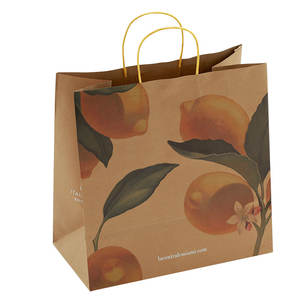 Wholesale Custom Printed white kraft paper bag, High quality brown paper bag, Hot sale luxury white paper bag