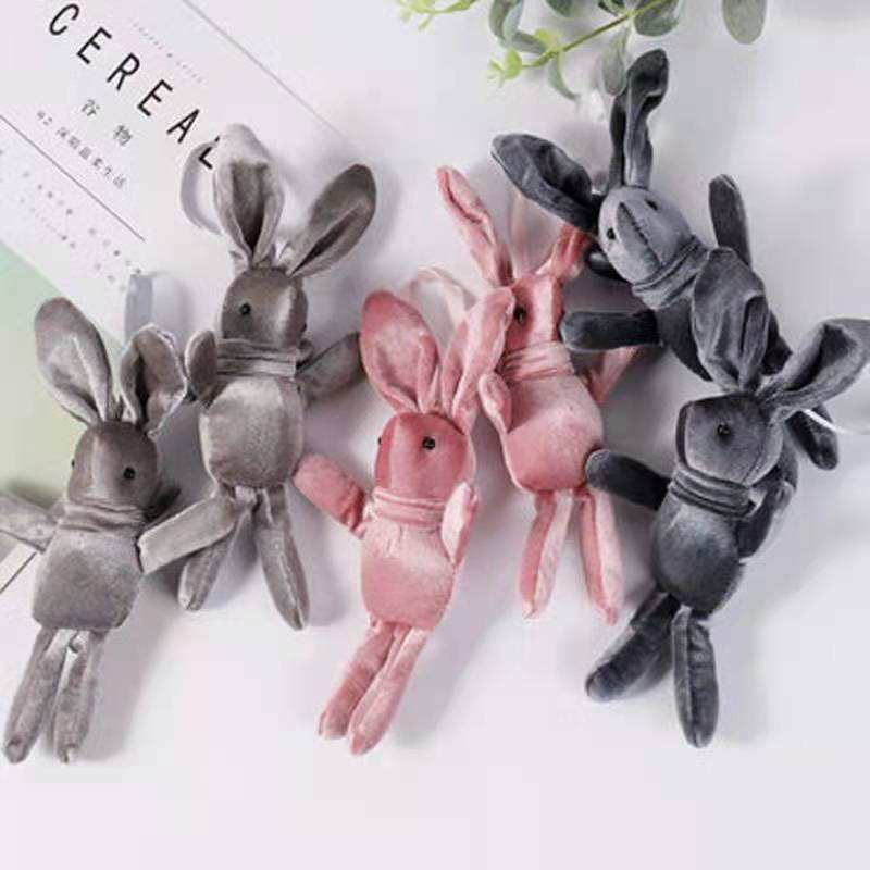 Korean version of velvet wishing rabbit toy long-legged rabbit doll plush toy pendant