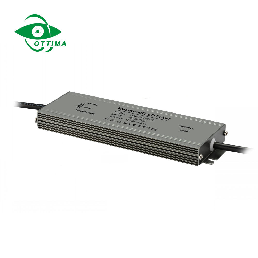 Ulter thin waterproof led power supply 12v 500W 400W 300w 200w ip67 led driver for outdoor led lighting