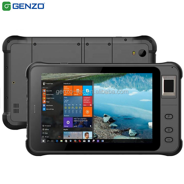 GENZO 7 Inch 1000 nits Rugged tablet windows 10 industrial tablet With Fingerprint and RFID/UHF/ Barcode scanner