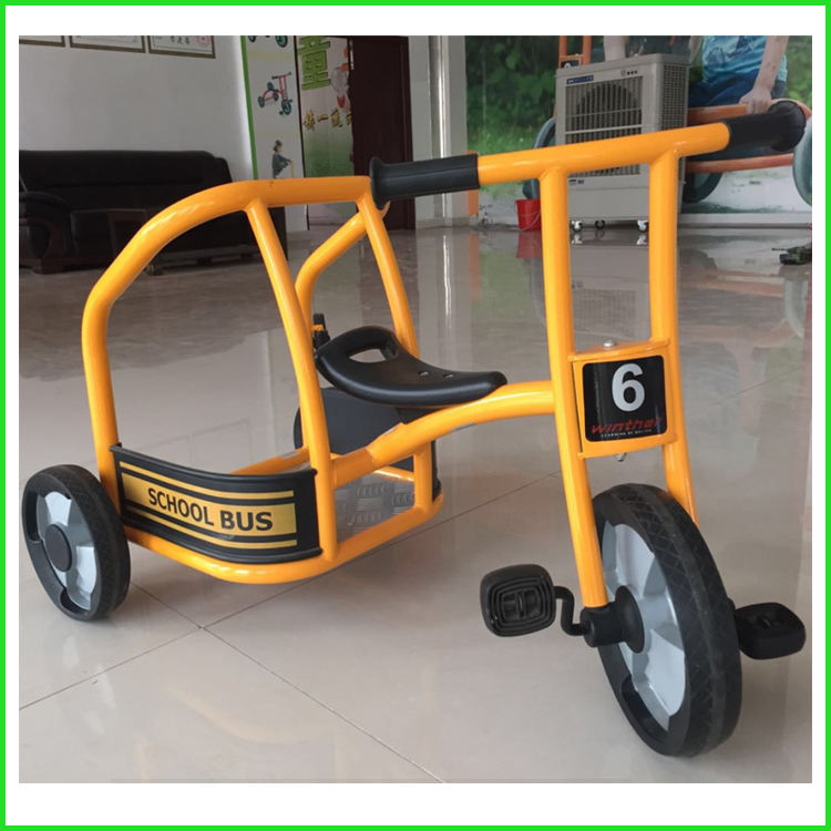 Moetry Heavy Duty Kids Ride on Vehicle Tricycle Police Cab 3 Wheel Bike for Kindergarten and Daycare Center