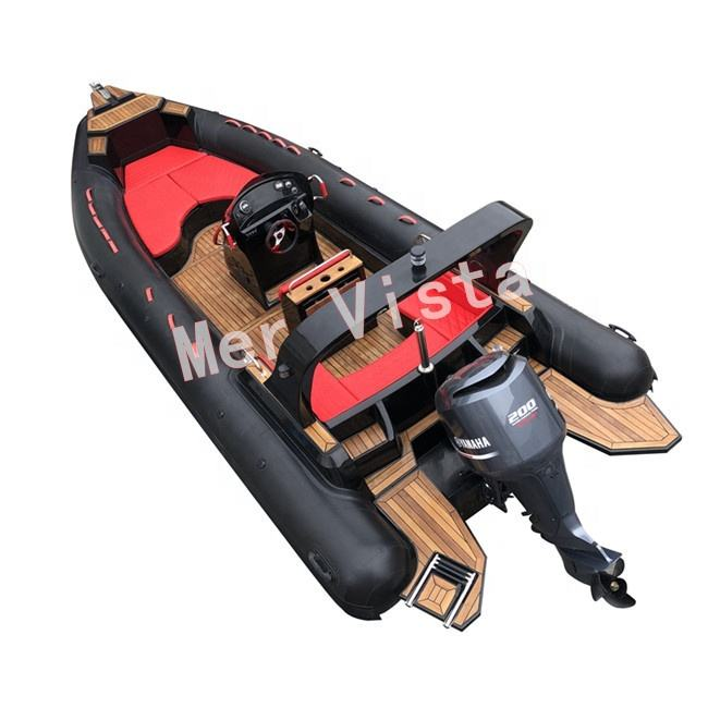 CE RHIB 25ft Rib 760 Hypalon Rigid Inflatable Boat Cabin China Rib Boats for Sale