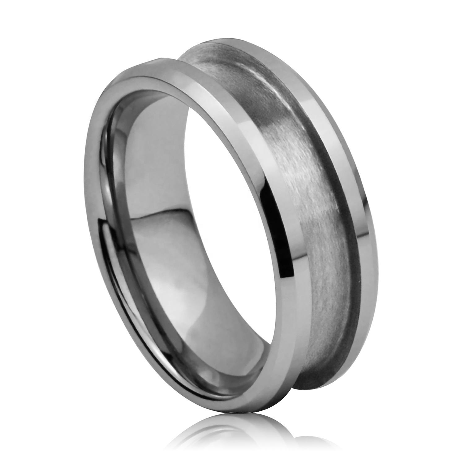 Customized Wholesale Tungsten Carbide Blank Ring for Inlay Jewelry Cores