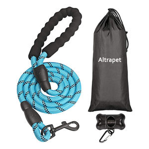 Mountain Arrampicata Durevole Intrecciato di Nylon Riflettente occhiali da sole Rotondi Del Cane della Corda Guinzaglio Dell'animale Domestico Maniglia Molle Dell'animale Domestico Sport All'aria Aperta con poop bag holder