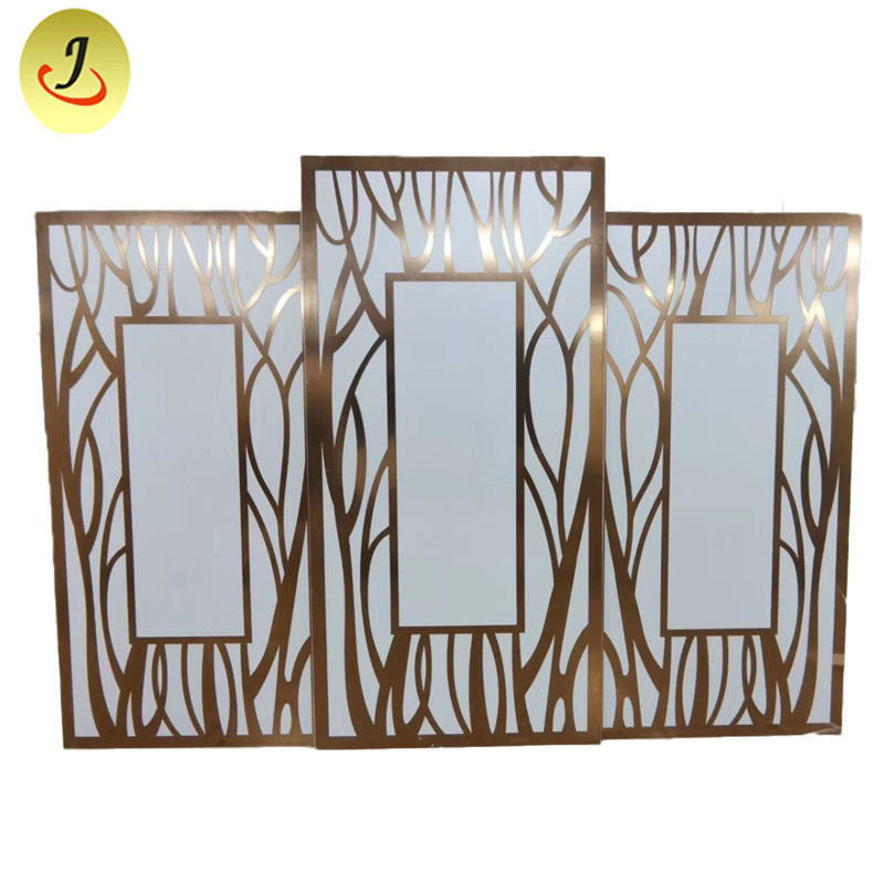 Latest modern style golden square backdrop decoration for wedding