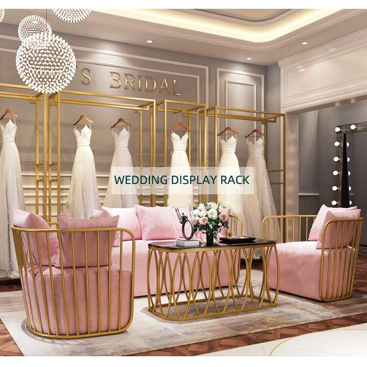 Evening Prom Dresses Display Shop Fittings Bridal Gown Display Rack Wedding Dress Display Stand
