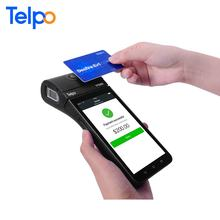 "Telpo TPS900 Wireless 4G EFT Pos Terminal with 5.5"" touch screen,printer, fingerprint scanner for bank cards payment"