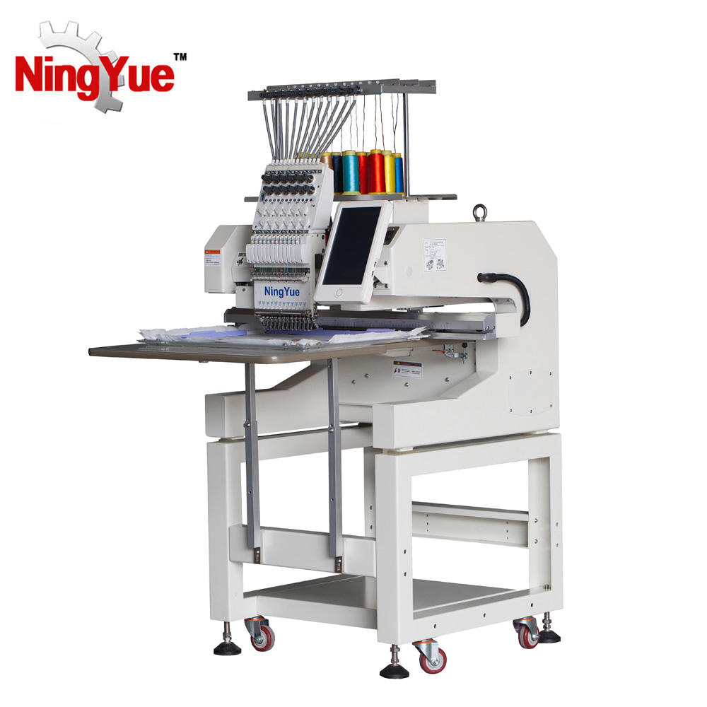 12 Needle Single Head computerized Embroidery Machine Price Suppliers quilting sequin Embroidery Machine