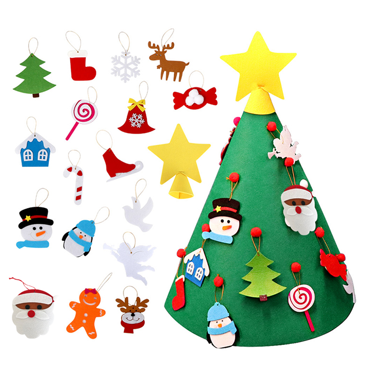 Factory Direct Felted Ornaments Decoration New Felt Christmas Tree