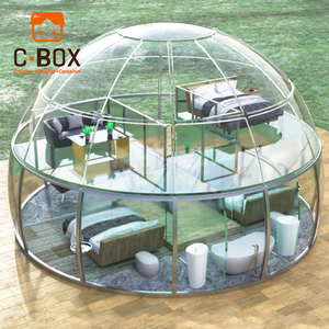 Waterproof Outdoor Glamping Geodesic Dome Homes Igloo Geodesic Prefabricated Dome House