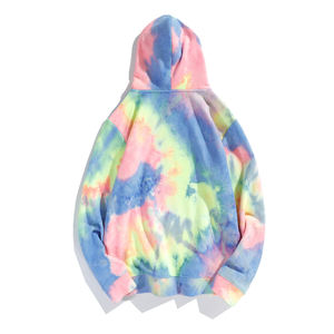 Custom Wholesale Hooded ladies tie dye hoodys rainbow tie dye hoodie bulk hoodies for sale