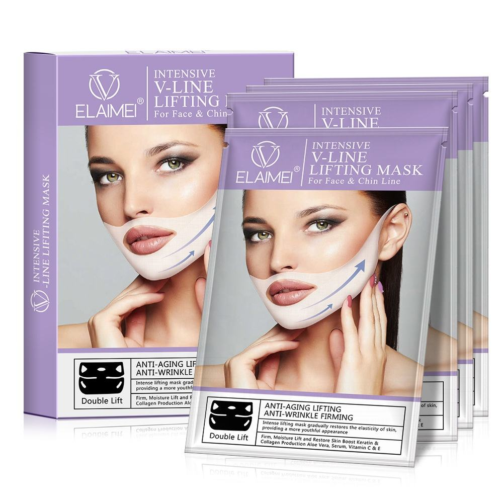 Low Price Beauty Face and Chin Line Up Elaimei Intensive Double V ined Lifting Patch V Shape Slimming Face Mask