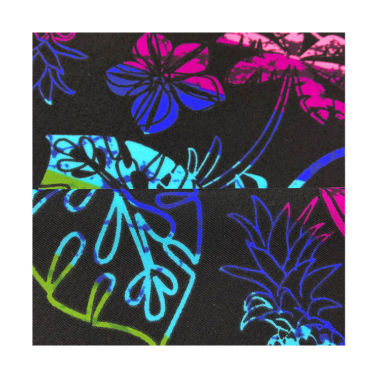 Custom 82% Nylon 18% Spandex digital printing 4 way stretch lycra swimwear fabric, Elastic Clothing Fabric#
