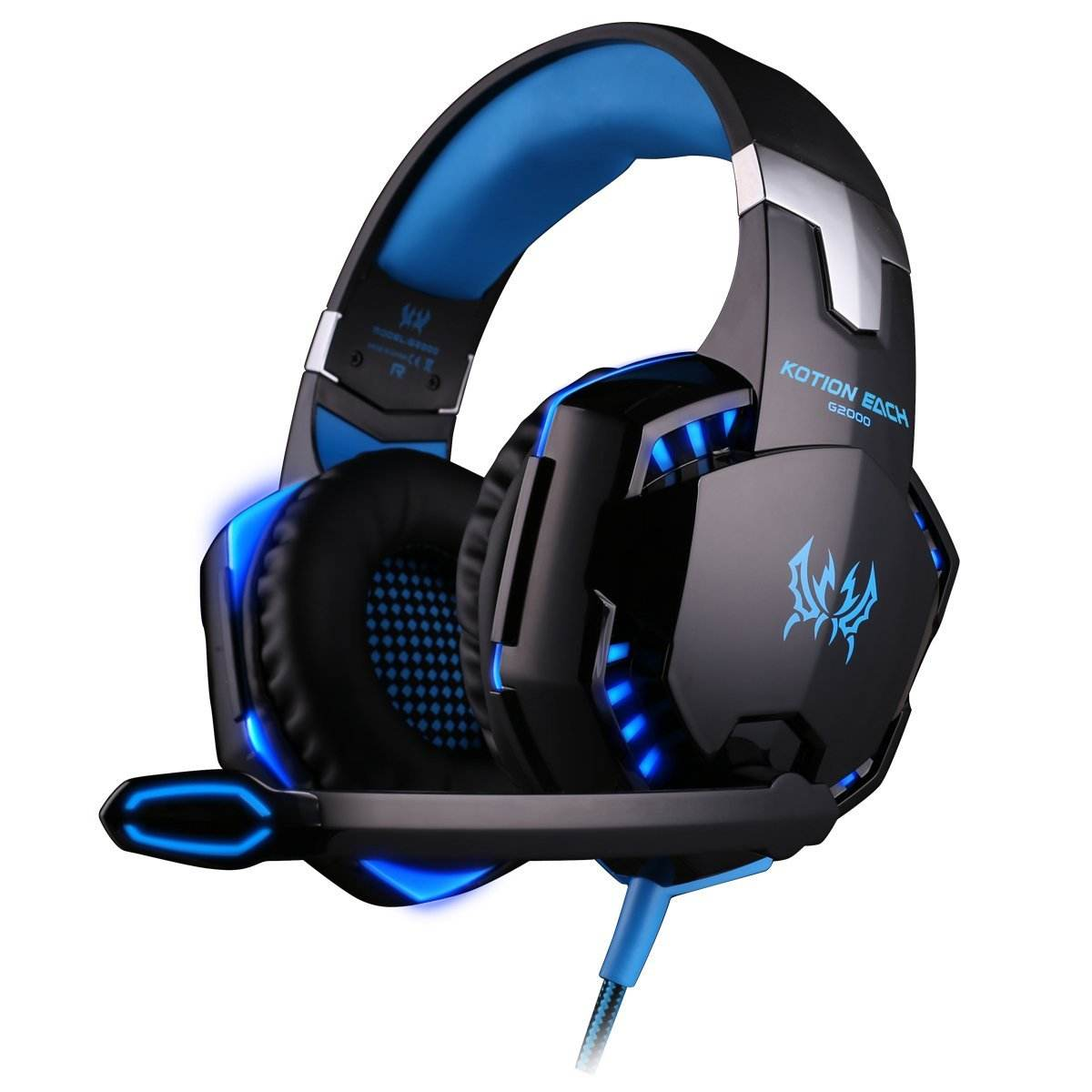Hot Selling G2000 Wired Gaming Headphones Headset with Mic Lights for PS4 XBOX ONE PC SWITCH