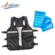 industrial refrigeration man dry phase change body ice gel cooling vest with liquid ice gel pack pad
