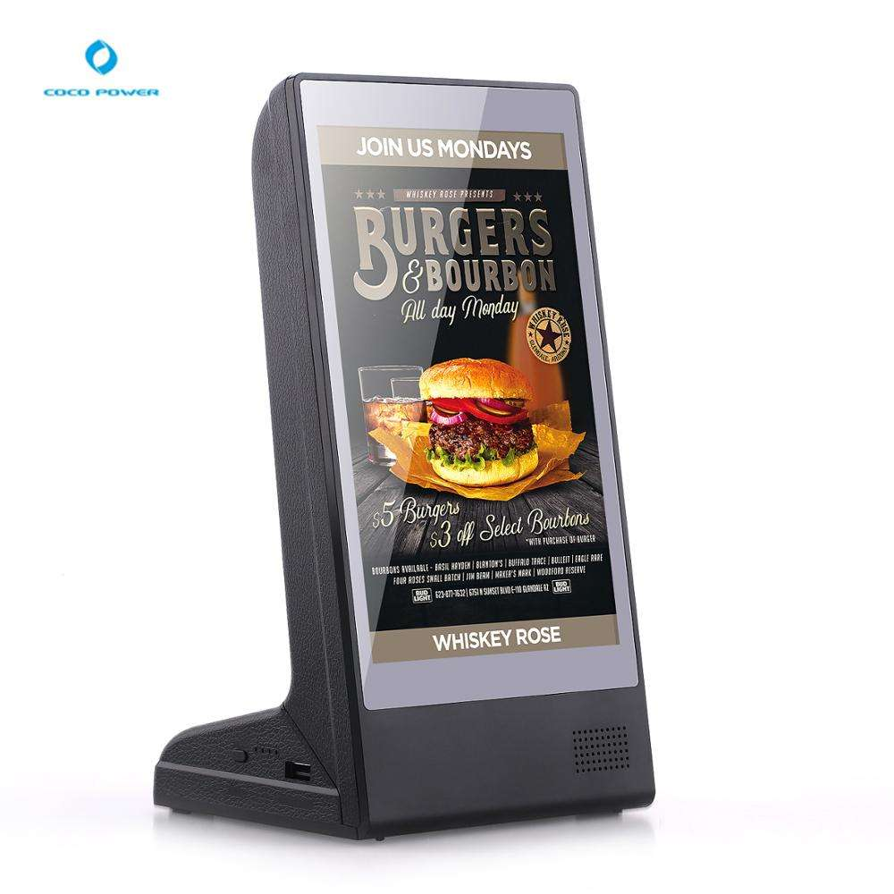 Best price 8 inch desktop advertising display Android system mini digital media player ad equipment