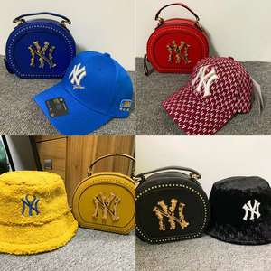 Factory wholesale ny hat&purse sets; new york purses and hat sets
