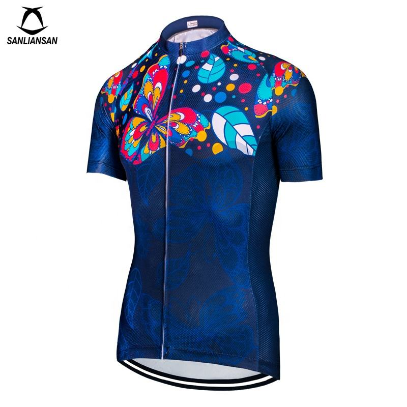 Women cycling wear sublimation printing Quick Dry Slim Racing Cycling Jersey