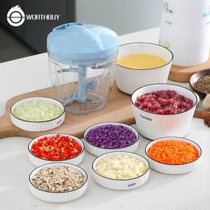 WORTHBUY Hand-Powered Garlic Crush Profession Pull Meat Mincer Easy Use Manual food chopper For Kitchen