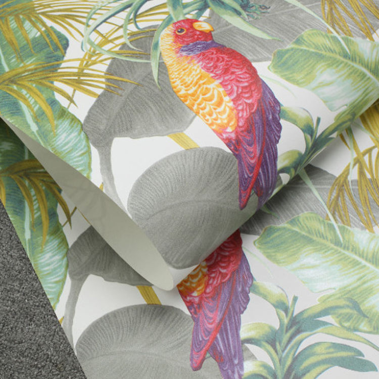 Custom Wallpapers Rainforest Parrot Palace Living Room Tv Background Wall Wallcoving Non-woven Wallpaper