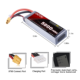 RC lipo battery 10000/16000/22000mah 25c 11.1v 14.8v 22.2v 3s 4s 5s 6s li-polymer battery pack