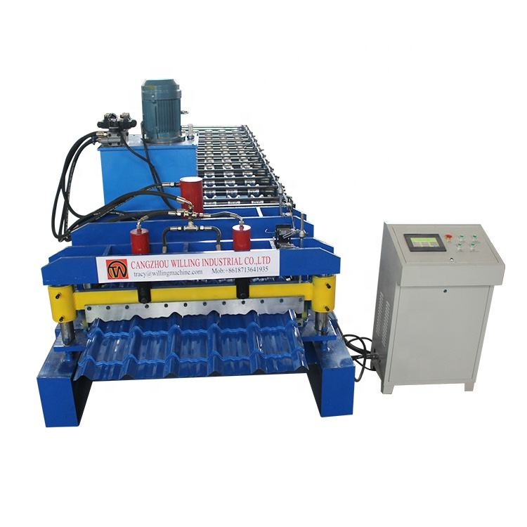 High quality glazed tile sheet roof press making machine roll forming machinery
