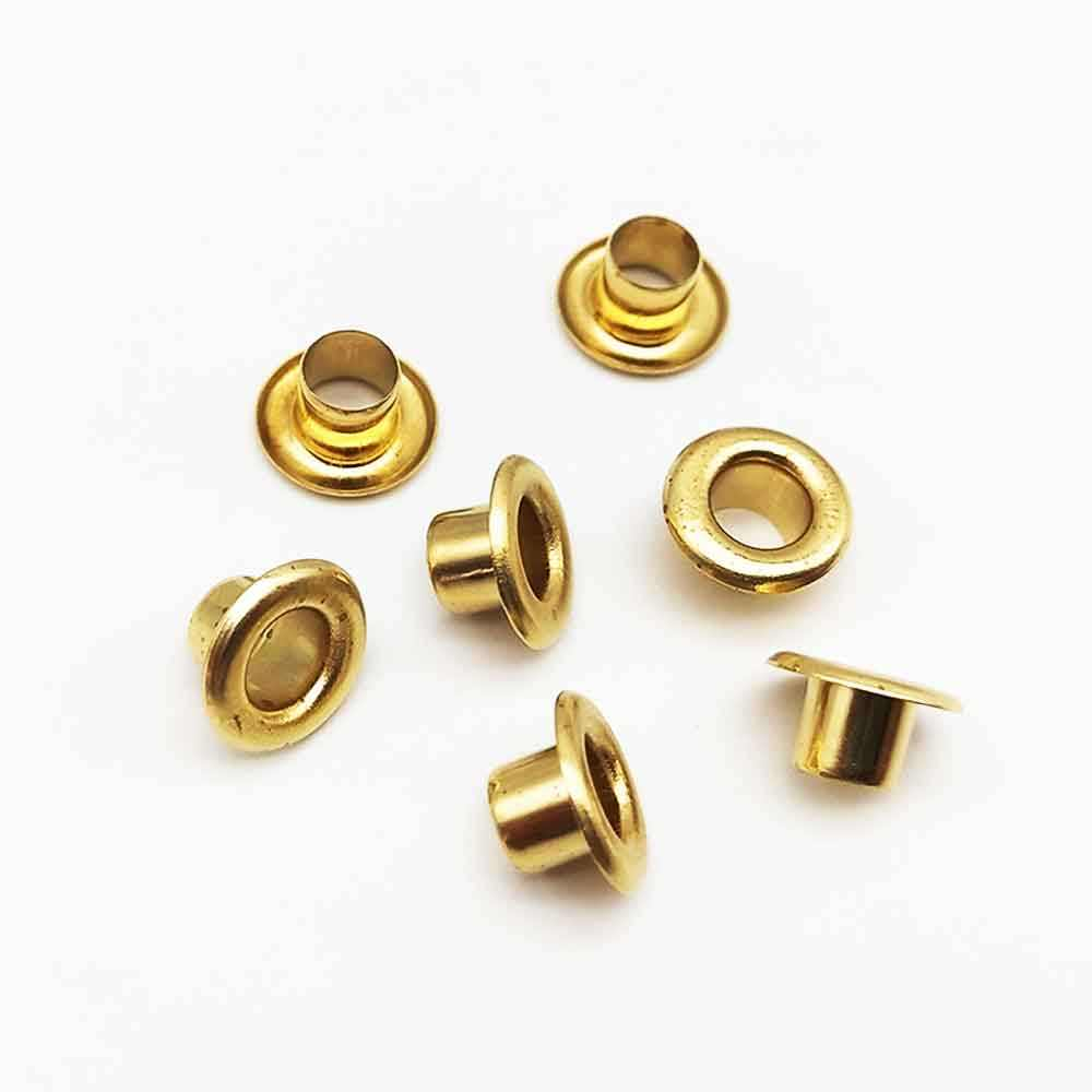 30mm Gold Rust Proof Eyelets Washers Home Repair PVC Banner Leather